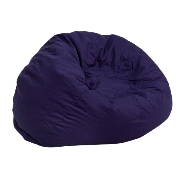 Large 100% Cotton Bean Bag Chair & Lounger By Latitude Run